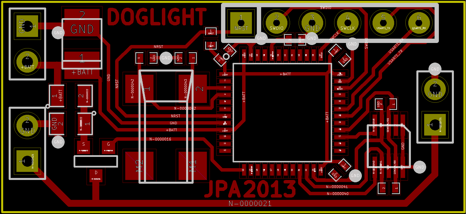Automatic night light pcb layout - Schematics Pcb Layout Soldered Pcb