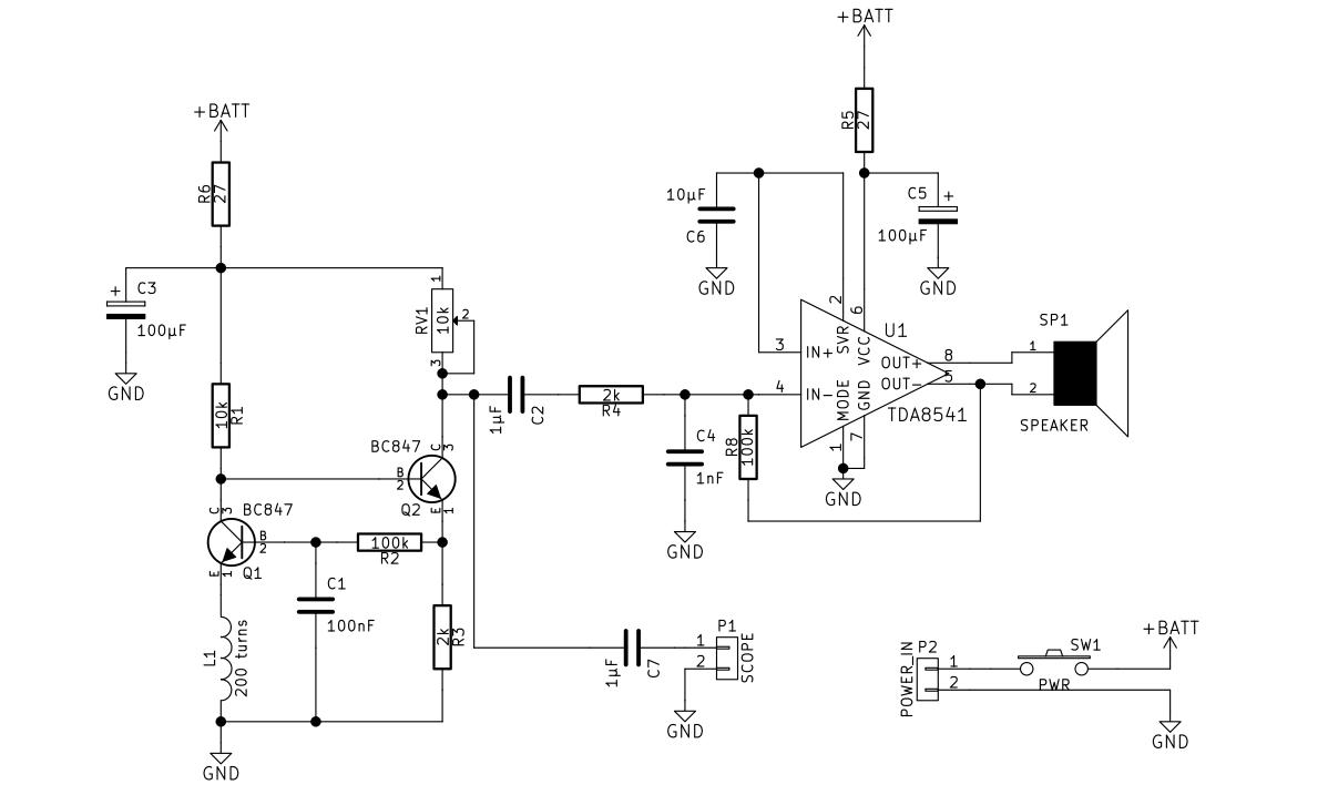emf detector schematic