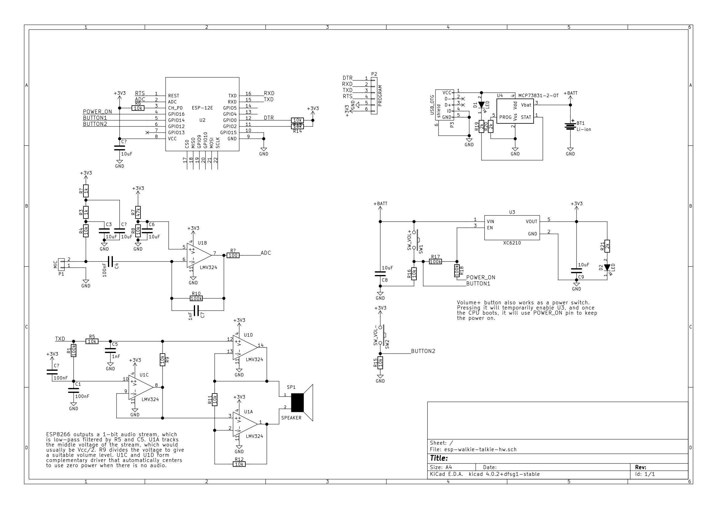 ESP8266 walkie talkie – Essential scrap